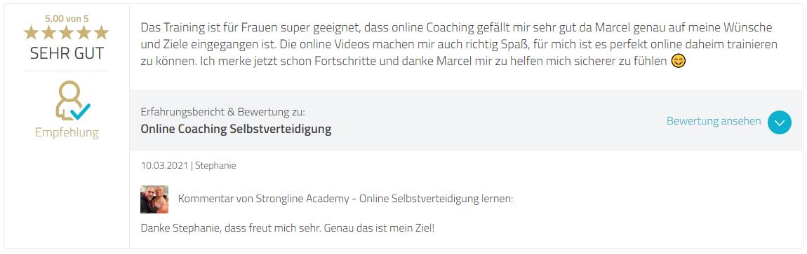 Proven Export Bewertung Selbstverteidigung Online Coaching
